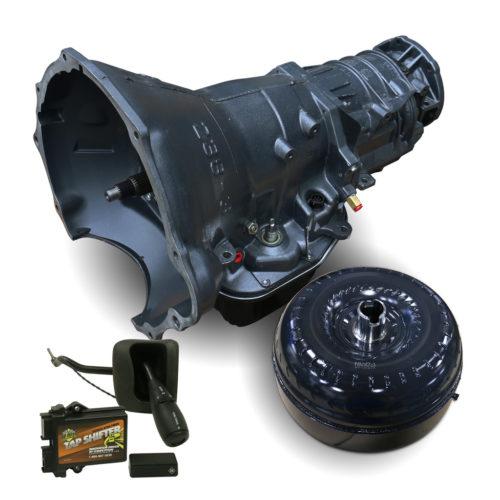 BD Dodge 48RE Transmission & Converter Package - 2005-2007 4wd w/TVV Stepper Motor - c/w Filter, Billet Input & TapShifter